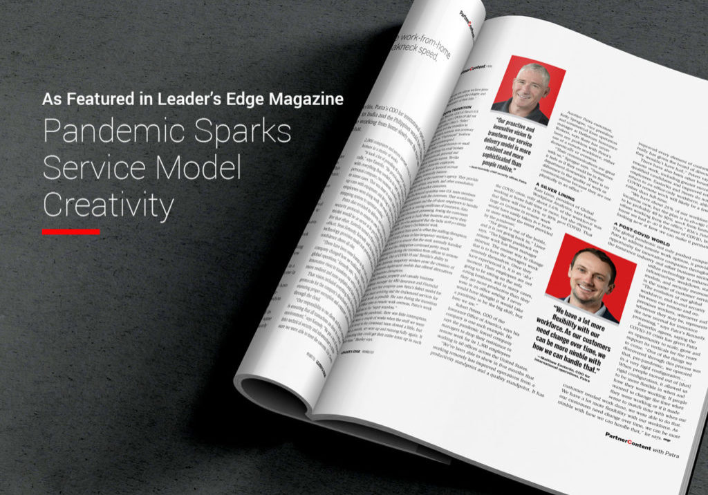 As Featured in Leader's Edge - Pandemic Sparks Service Model Creativity