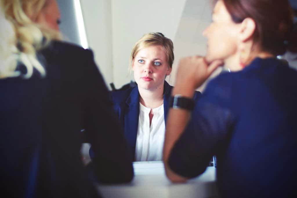 woman listening to others